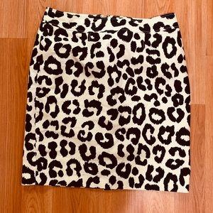 Ann Taylor cheetah print skirt